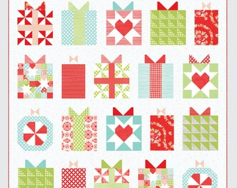 """SALE!! Handmade With Love Pattern by Camille Roskelley of Thimble Blossoms -210 Finished Quilt Size- 74"""" x 75"""""""