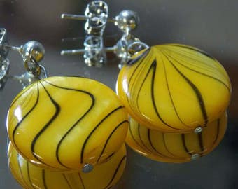 Retro Bee Earrings
