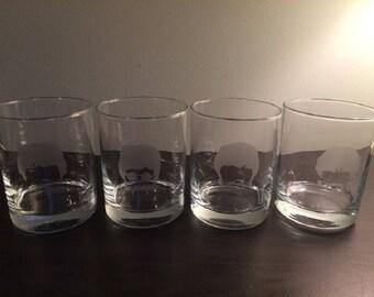 The Beatles Glasses - Beatles Double Rocks Glasses - John Lennon - Paul McCartney - Ringo Starr - George Harrison - Beatles
