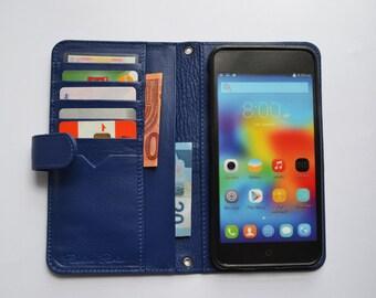 IPhone 6 Plus Case, Wallet Case For iPhone 6 Plus, Handmade leather iPhone wallet, Bag case for iPhone 6plus. Mod.NAVY