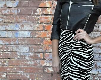 Zebra Print Vintage Skirt