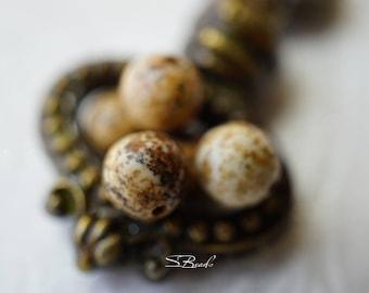 Chinese Stone, 8mm Beads, Beads