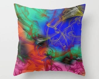 Red and Blue Pillow Cover, Colorful Pillows, Red Pillow, Green Pillow, Designer Pillows, Cushions, Decorative Pillow Cases, Couch Pillows