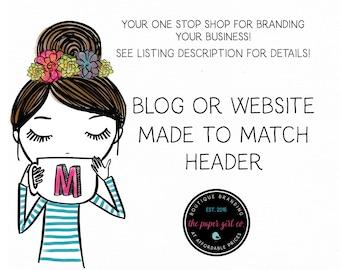 blogger banner blog banner website header web banner you tube banner wordpress banner made to match header for website or blog custom banner