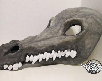 Crocodile mask, masquerade mask, adult costume mask, fantasy, scary, dino mask, dinosaur, swamp creature, river monster, warrior