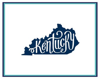 Kentucky Decal - Car Decal - Laptop Decal - Window Decal - Kentucky Sticker - State Decal - Kentucky Car Decal - Yeti Decal - Home State