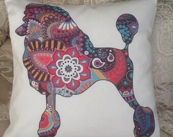 Poodle Design cushion cover