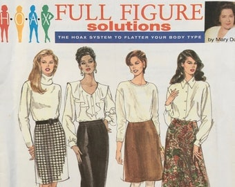 Simplicity Misses' Set of Skirts Pattern 9725 Uncut Fuller figure 18W to 24W Plus Size pattern