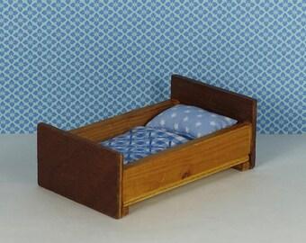 Doll House Vintage Childu0027s Bed 1950s Furniture Wooden