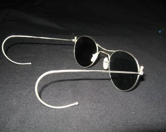 Vintage Sunglasses Wire Frame, French Railway workers Sunglasses SNCF