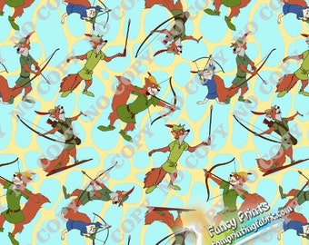 Robin hood fabric, custom digitla printing fabric W16NO0507 - 1 meter