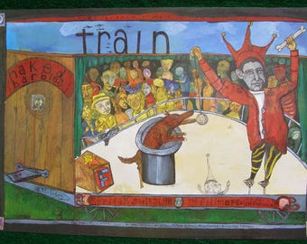 TRAIN Rock Concert Poster from Bill Graham presents at the Fillmore