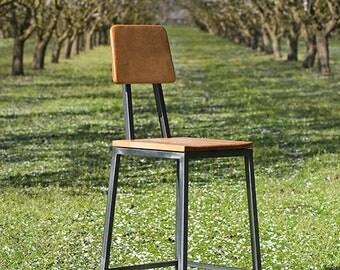 Handmade Steel and Maple Hardwood stool