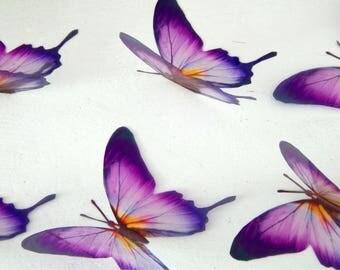 Designer purple and yellow butterflies, stunning,wall decor, luxury wall art,conservatory, garden,flower pot,mirror,original reproduction