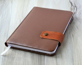 Leather planner 2017 2018 Monthly weekly planner notebook Daily planner book Agenda 2017 2018 Vegan leather agenda Diary 2017 2018 agenda
