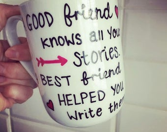 Friendship quote mug