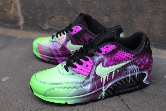 info for 45b76 8b9f8 Custom Nike Air Max 90 Pink Abstract Art Style Shoes Sneaker .