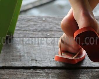 Sandals on a Bangkok Pier