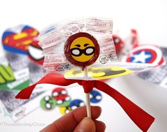 Super Hero Capes | Printable Valentines for Kids | Classroom Valentine Cards | Lollipop Cards | Editable PDF - Personalize & Print!