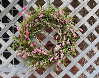 Spring Wreath, Valentines Wreath, Easter Wreath, Everyday Wreath, Front Door Greenery Wreath, Summer Wreath