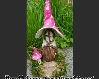 Toadstool Cottage. Fairy house.