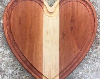 Eucalyptus and Maple Heart Cutting Board