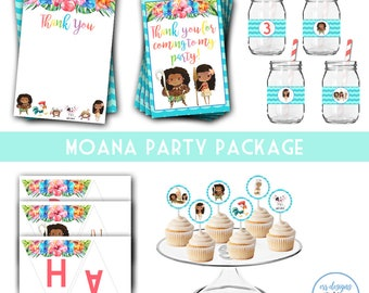 Moana Party Package, Moana Birthday, Moana Party, Moana Birthday Party