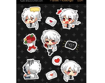 "Mystic Messenger Zen 3x4"" Kiss Cut Sticker Sheet"