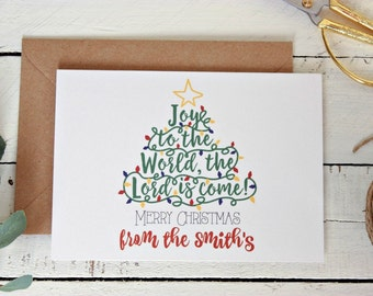 Personalised Christmas Card Pack, Rustic Christmas Cards, Christmas Card Set, Christmas Greeting Card, Xmas Card, Set of 10
