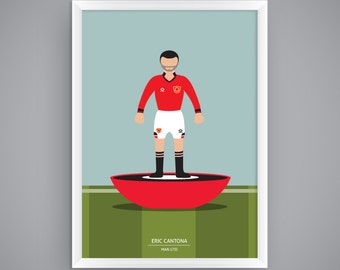 Eric Cantona - Man Utd - Subbuteo Poster