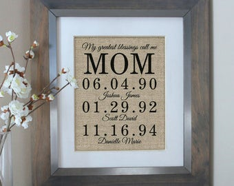 Personalized Mothers Day Gift, Mothers Day from Daughter, Personalized Gift for Mom, From Daughter, Mothers Day, Mothers Day Gift from Kids