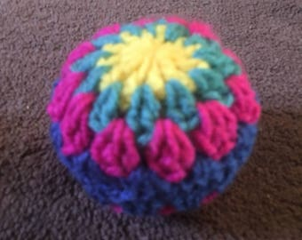 Handmade Cosmic Catnip Filled Crochet Granny Balls