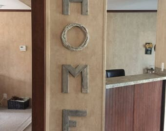 large wood letters set home love