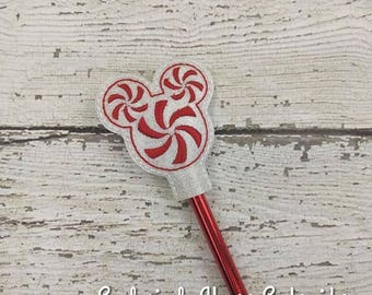 Swirl Mouse Head Pencil Toppers - Party Favor - Valentine - Small Gift - Back to School
