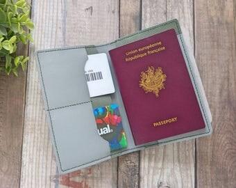 Passport case, leather, notebook A6, road trip, minimalist