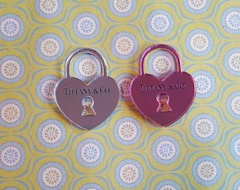 Laser Cut Heart Lock Charm Cabochon