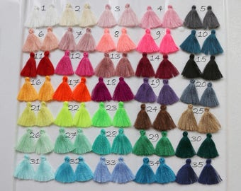 """10pcs-1.1"""" Solid Color Mini Jewelry Tassels, Cotton Tassels, Bracelet Tassels, Handmade,  Summer Fashion Trend,Tassels Trim Fringe"""