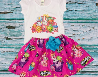 Shopkings  birthday outfit,  Shopkings  outfit  Girl Shopkings  shirt skirt ,  Disney outfit,  Girl outfit Girl dress Heat transfer design