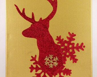 Red glitter deer
