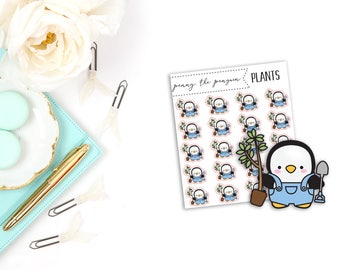 Penny the Penguin Plants | Character Stickers