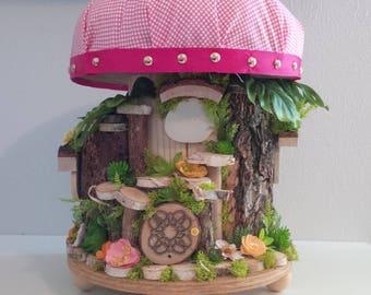 "OOAK Fairy House: Fairy Toad ""Stool"""