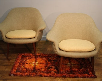 A pair of Vintage Danish Armchairs