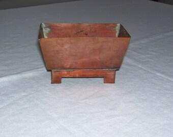 Small Copper Planter Vintage