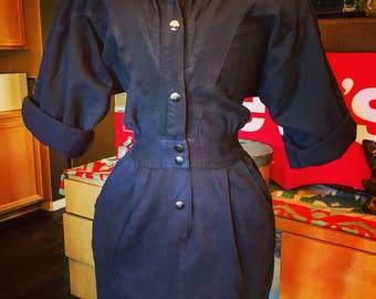 Vintage 1980's Black Dress