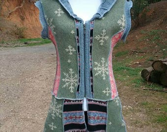 Winter to spring upcycled duster
