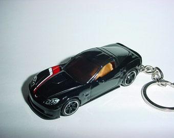 New 3D Black Chevrolet Corvette ZR1 Custom Keychain keyring key chain by Brian Thornton