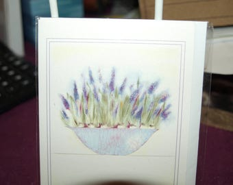 Lavender in a Bowl  Notelet