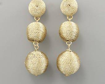 Metallic Shimmer 3  Baby BonBon Drop Earrings
