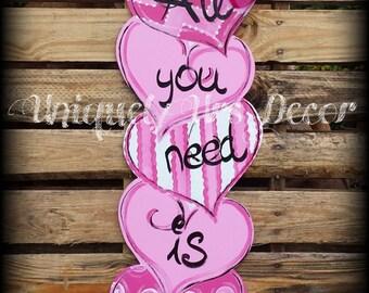 Valentines Day Door Hanger, Heart Door Hanger, Door Hanger, Valentines Door Hanger