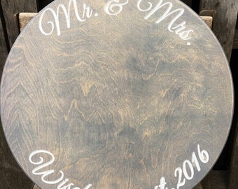 Wedding cake stand - Wedding decor - Cake stand - Rustic Wedding - Bridal gift - Gift for them - Personalized Gift - Wedding Platter